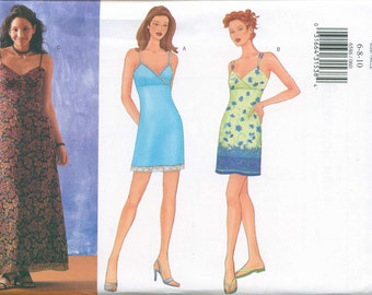 Butterick 6586 Strappy Sun Dress Pattern Sizes 6-8-10 Crossover bust Easy to Sew