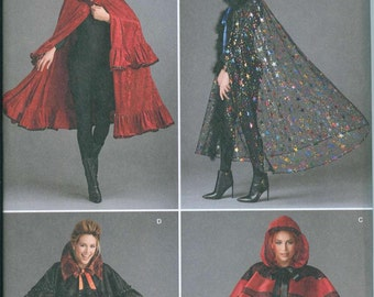 Costume Cape Sewing Pattern Simplicity 1294 One Size Fits Most Witch Countess Goth Gothic Capelet