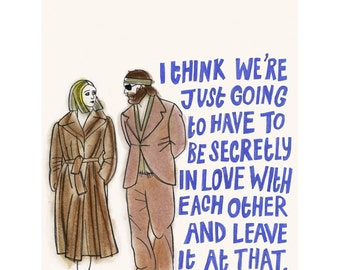 "Movie Poster Cult Wes Anderson Film art print quote Margot & Ritchie The Royal Tenenbaums -   4"" X 6"" print - 4 for 3 SALE"