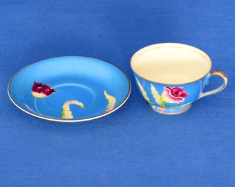 Chugai China Vintage Tea Cup and Saucer - Made In Occupied Japan