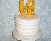 sample photos for LOVE wedding cake topper with love birds