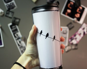 READY TO SHIP: Birds on a Wire Travel Mug