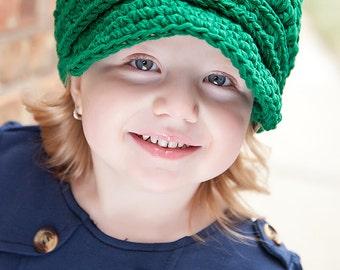 5 Sizes Emerald Green Newsboy Cap Baby Newsboy Hat Toddler Girl Newsboy Toddler Boy Newsboy Womens Newsboy Crochet Newsboy Buckle Winter Hat