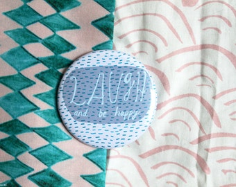 Laugh and be happy pocket mirror