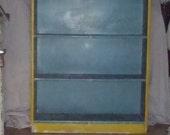 Vintage Primitive Farmhouse Bookcase Cupboard Cabinet