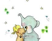 Nursery Art--- Wishing On A Star -- Art Print