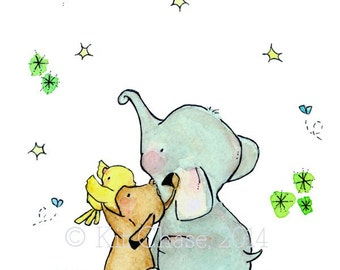Nursery Art--- Wishing On A Star -- Art Print