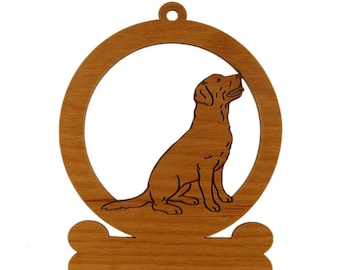 Labrador Sitting Ornament 083479 Personalized With Your Dog's Name