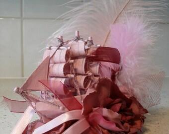 Gorgeous Pink Galleon Fascinator - Hairpiece -Hat -Headpiece
