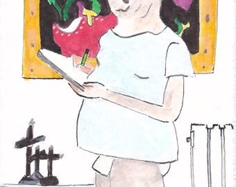 Self portrait  in the corridor
