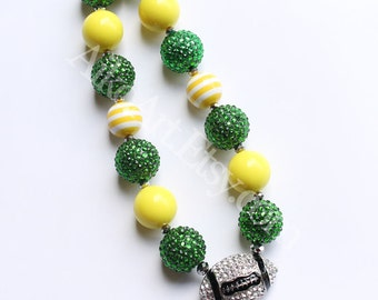 Sic 'Em Baylor Bears Green Bay Packers Chunky necklace for girls