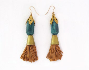 Honey Tassel Earrings