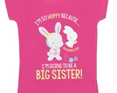 easter big sister shirt - big sister to be bunny i'm so hoppy funny pregnancy announcement