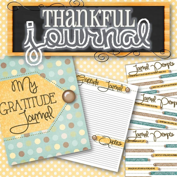 Gratitude thankful journal instant download by timesavors on etsy