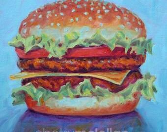Cheeseburger 2 - Paper - Canvas - Wood Block