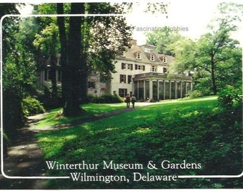 WILMINGTON - WINTERTHUR MUSEUM - Delaware - Main Building, spacious yard - real photo Courtesy Del State Travel Service-Natural colors- Mint