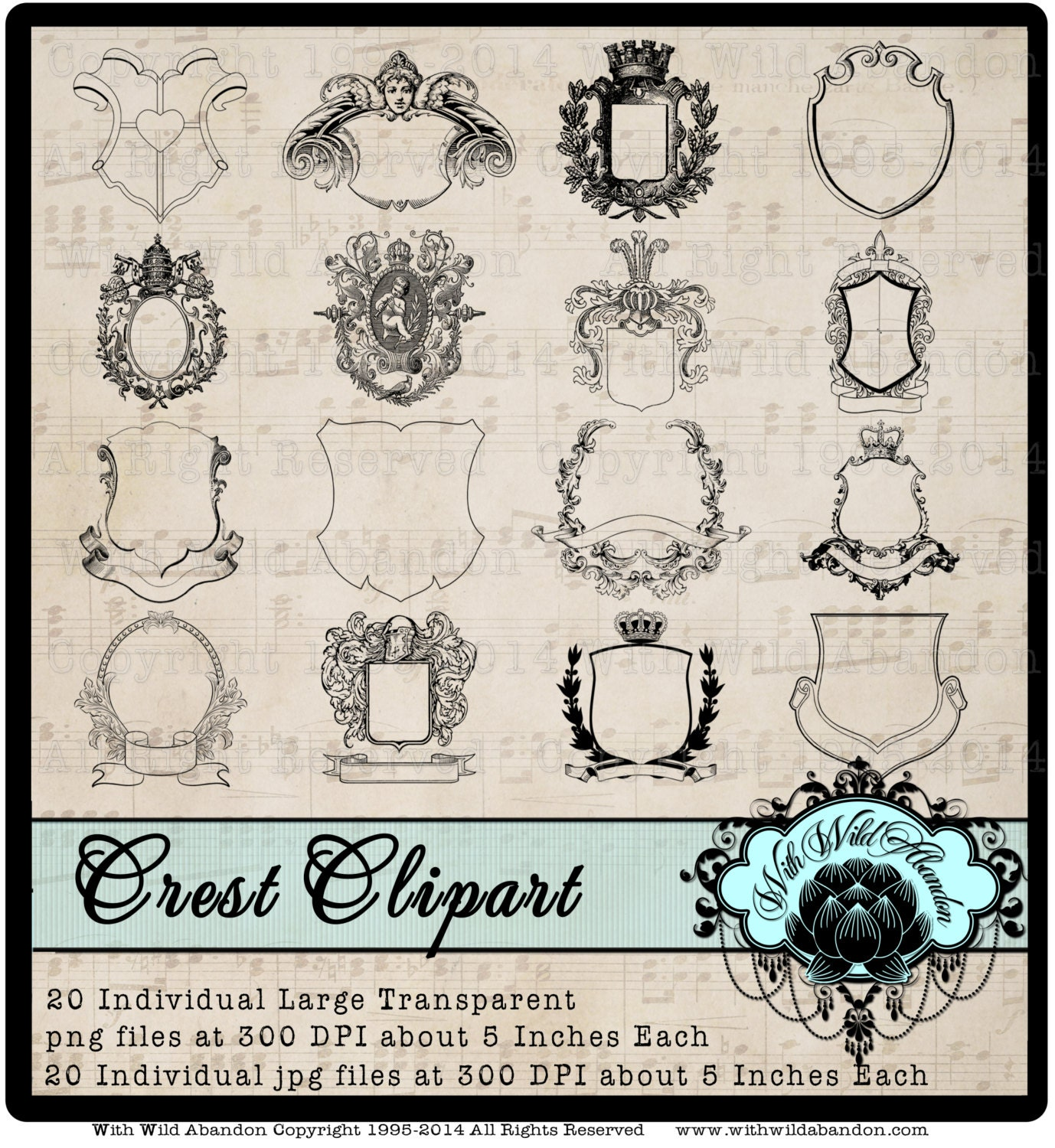 Family Crest Royal Monogram Coat of Arms Royalty Clipart