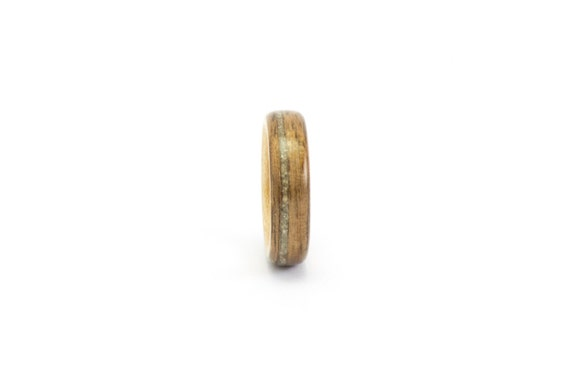 Wooden Wedding Band, Wooden Ring, Walnut and Maple Wood Ring, Men's Wooden Ring, Concrete Ring, Wedding Ring, Bentwood Ring, Wooden Band