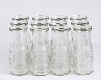 Miniature Glass Milk Bottles