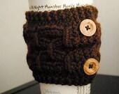Arthur Cable Cup Cozy Knitting Pattern - Digital PDF Knitting Pattern -