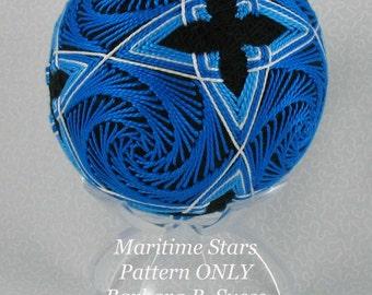 PATTERN for sale Maritime Stars temari
