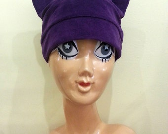 Velour Cat Ear Hat