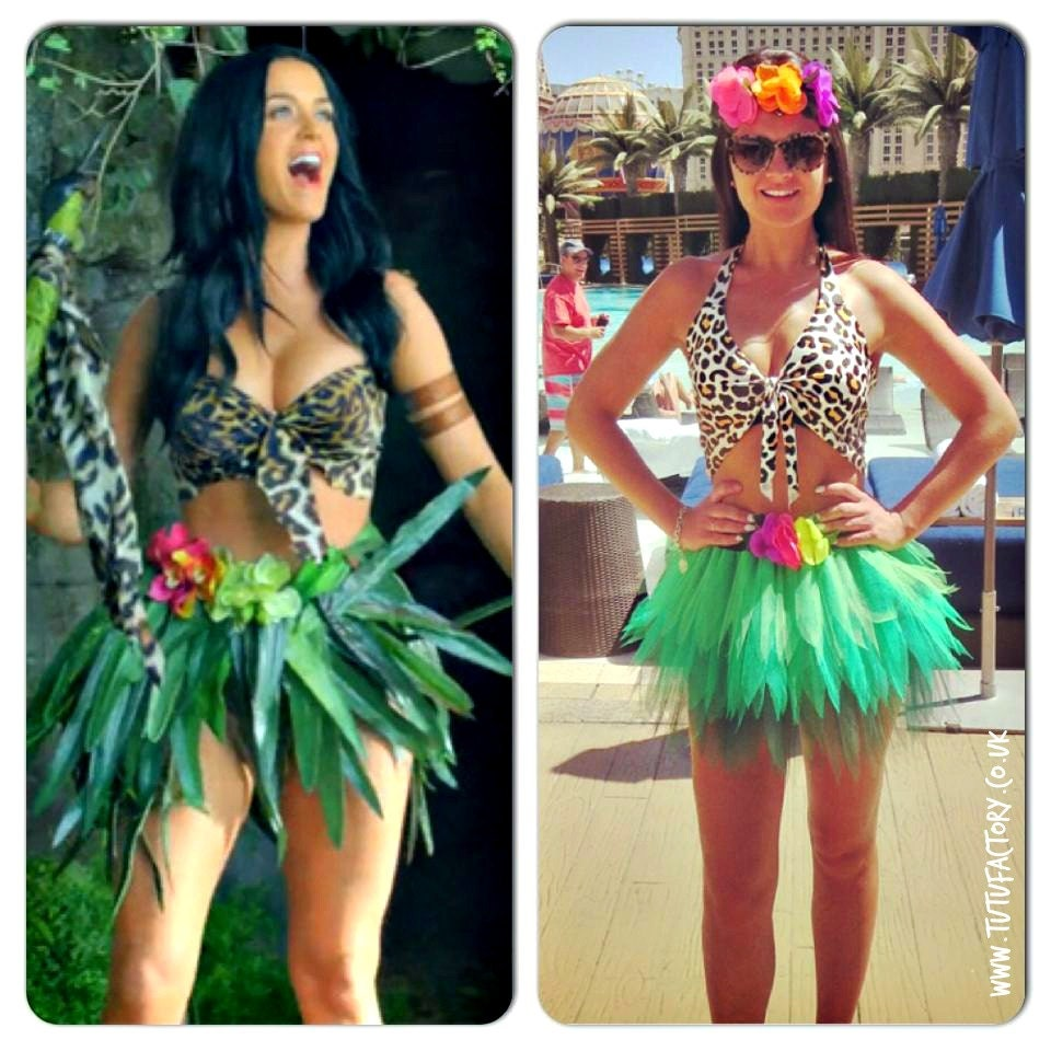 Katy Perry inspired neon Tutu Set Roar Costume Outfit Leopard