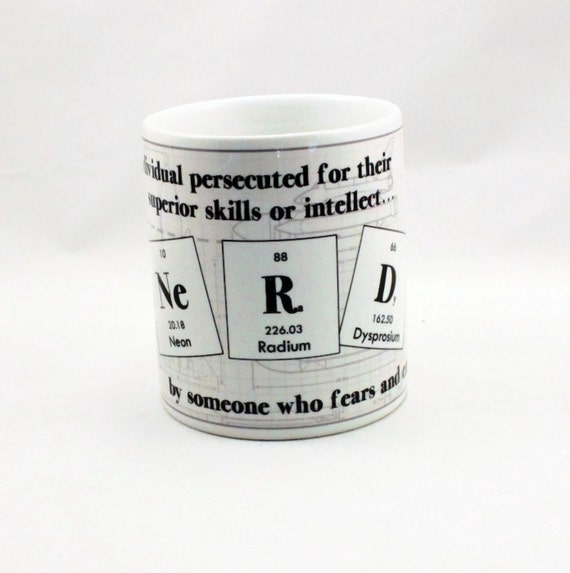 Items Similar To Personalized Periodic Table Coffee Mug Nerd Science Housewares Gift Idea On Etsy