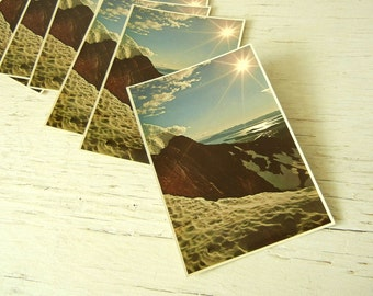 Oregon Postcards 1970s Sunrise | Cascade Mountains | Pacific Northwest | Save the Date | Invitation