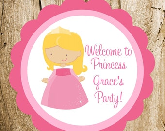 Princess Aurora Party - Custom Princess Party Sign by The Birthday House