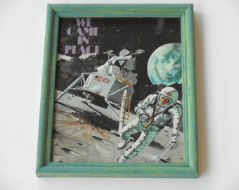 Apollo Astronaut Picture in Hand Painted 8x10 Wood Frame