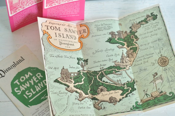 Explorer S Map Of Tom Sawyer Island