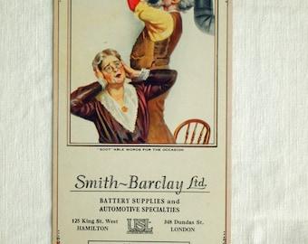 Vintage Brown and Bieglow Calendar. October 1927. When You Shouldn't DIY