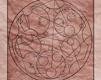 5x7 Commission Custom Doctor Who Gallifreyan Glyph