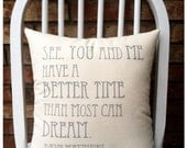 Dave Matthews- The Best of What's Around, Custom Double Sided Lyric Pillow