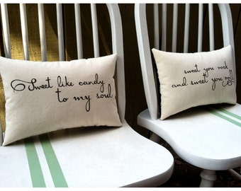 Crash Into Me- Dave Matthews Band, Customizable Song Lyric Pillow Set