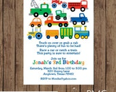 Custom Printed Automotive Birthday Invitations - 1.00 each with envelope