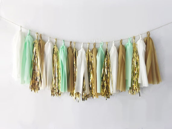 Caramel Apple Tassel Garland
