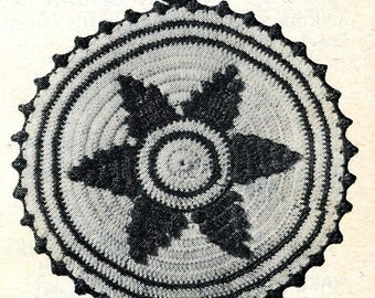 crochet PATTERN  PDF File 5804 Star Pot Holder from a 1950s Workbasket in Instant Download
