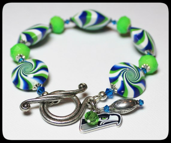handmade jewelry seattle seattle seahawks handmade jewelry bracelet beaded polymer 123