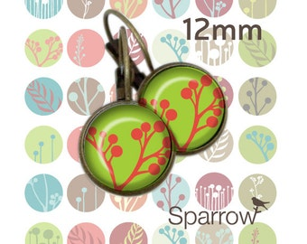 Mod Buds - 12mm x 12mm Round earring and pendant Images -144 images- BUY 2 GET 1 FREE