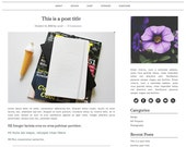 Responsive Self-Hosted Wordpress Theme: She's Classy - black and white premade blog template, two column, three column, genesis framework