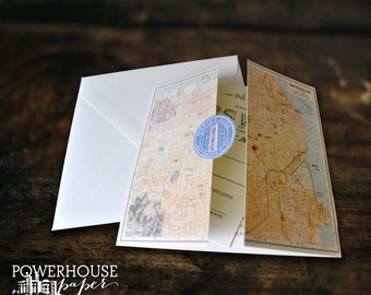 San Francisco Map DIY Weddign Invitation