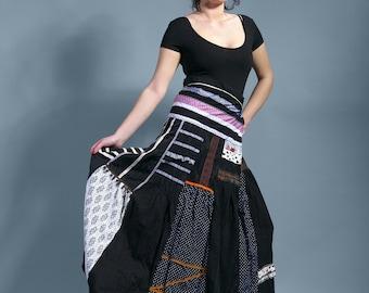 """Long bohemian SKIRT  """"Rhapsody"""" boho skirt, wrap skirt"""