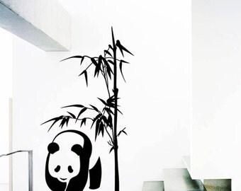 Panda Bamboo Wall Decal