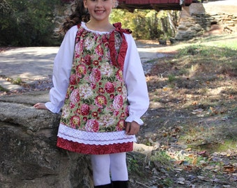 Sew Lacy Pillowcase Dress Pattern - Back to School - PDF Pattern - Size 6 mos baby -14 child Sewing Pattern