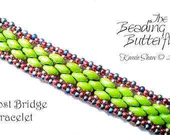 Bifrost Bridge Bracelet Tutorial for Superduo - Beadweaviing Pattern - Digital Download