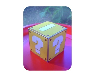Print-INK Super Mario Bros. A La Carte Favor Boxes - Two Designs - Editable DIY Digital Printable PDF