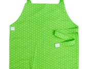 Green Polka Dot Apron - Toddler & Primary