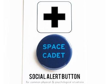 SPACE CADET Button Galaxy Universe